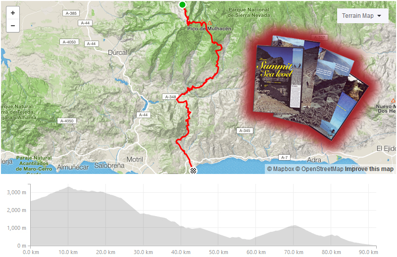Day four strava route at Freeride Spain
